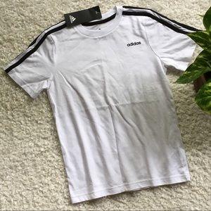 NWT Adidas boys white t-shirt
